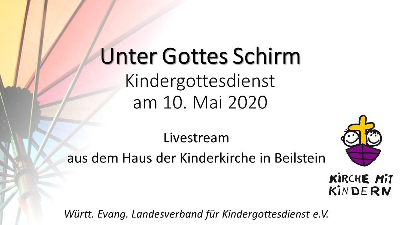 Ankündigung Kindergottesdienst Livestream 10. Mai